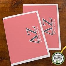 Delta Zeta Sorority Personalized Folders - 21651