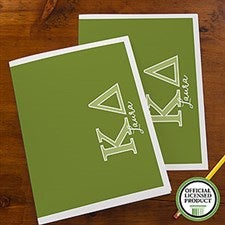 Kappa Delta Sorority Personalized Folders - 21654
