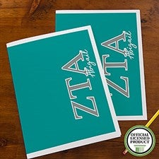 Zeta Tau Alpha Sorority Personalized Folders - 21657