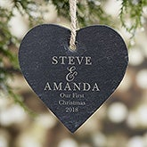 So In Love Engraved Slate Couple Ornament - 21662