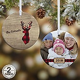 Personalized Christmas Ornaments - Cozy Cabin - 21687