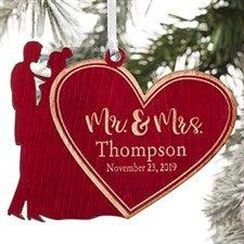 Wedding Couple Personalized Wood Christmas Ornaments - 21727