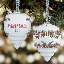 Winter Roses Baby's First Christmas Personalized Ornament - 21754