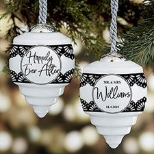 Happily Ever After Personalized Deluxe Drop Wedding Ornament - 21756