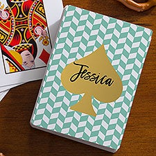 Contemporary Style Personalized Playing Cards - 21758