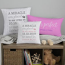 Baby Girl Story Personalized Baby Pillow Keepsake - 21779