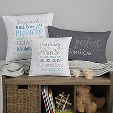 Baby Boy Story Personalized Baby Pillow Keepsake - 21780