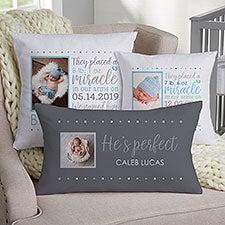 Baby Boy Story Personalized Photo Pillow Baby Keepsake - 21781