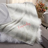 Personalized Faux Fur Throw Blanket - 21791