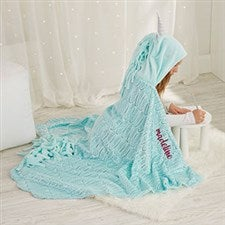 Personalized Unicorn Hooded Blanket - 21793