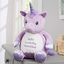 """Personalized Unicorn Stuffed Animal 16"""" Plush Toy - 21796"""