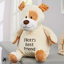 """Personalized Puppy Stuffed Animal 16"""" Plush Toy - 21797"""