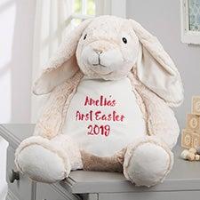 "Personalized Bunny Stuffed Animal 16"" Plush Toy - 21798"