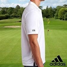 Custom Embroidered Sleeve White Adidas Polo Shirt - 21800