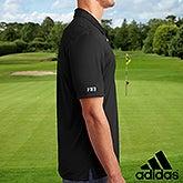 Custom Embroidered Sleeve Black Adidas Polo Shirt - 21801