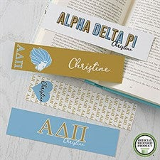 Alpha Delta Pi Personalized Bookmarks - Set of 4 - 21817