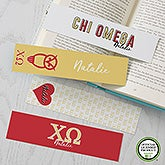 Chi Omega Personalized Bookmarks - Set of 4  - 21818