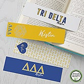 Tri Delta Personalized Bookmarks - Set of 4 - 21819