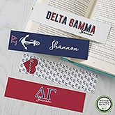 Delta Gamma Personalized Bookmarks - Set of 4  - 21820