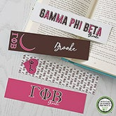 Gamma Phi Beta Personalized Bookmarks - Set of 4  - 21822