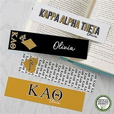 Kappa Alpha Theta Personalized Bookmarks - Set of 4  - 21823