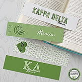 Kappa Delta Personalized Bookmarks - Set of 4  - 21824