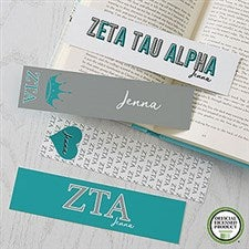 Zeta Tau Alpha Personalized Bookmarks - Set of 4  - 21827