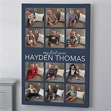 My First Year Photo Frame Custom Canvas Print - 21839