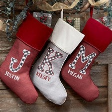 Farmhouse Christmas Personalized Christmas Stockings - 21847