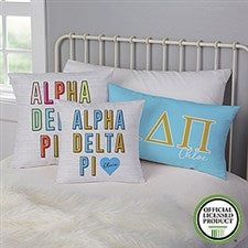 Alpha Delta Pi Personalized Sorority Pillows - 21850