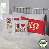 Chi Omega Personalized Sorority Pillows - 21851