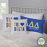 Tri Delta Personalized Sorority Pillows - 21852