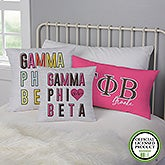 Gamma Phi Beta Personalized Sorority Pillows - 21855