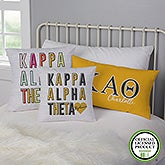 Kappa Alpha Theta Personalized Sorority Pillows - 21856