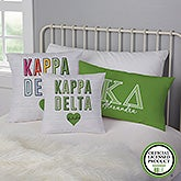 Kappa Delta Personalized Sorority Pillows - 21857