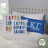 Kappa Kappa Gamma Personalized Sorority Pillows - 21859