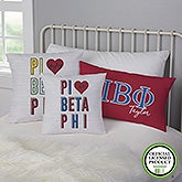 Pi Beta Phi Personalized Sorority Pillows - 21860