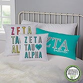 Zeta Tau Alpha Personalized Sorority Pillows - 21861
