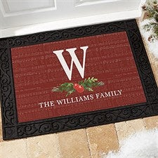 Nostalgic Noel Personalized Christmas Doormats - 21865