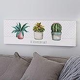 Cactus & Succulents Personalized Canvas Art - 21878