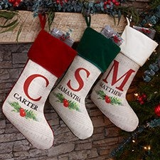 Nostalgic Noel Personalized Christmas Stockings - 21880