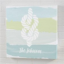 Seaside Swatch Knot Personalized Canvas Prints - 21891