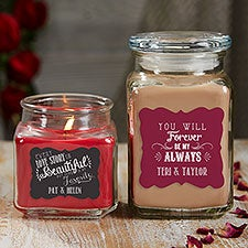 Love Quotes Personalized Scented Glass Candle Jars - 21902