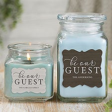 Be Our Guest Personalized Scented Glass Candle Jars - 21905