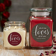 All of Me Loves All of You Personalized Romantic Scented Candles - 21911