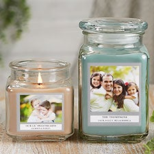 Custom Photo Scented Glass Candle Jars - 21918