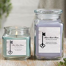 Housewarming Candle Gift Personalized Scented Glass Candle Jar - 21922