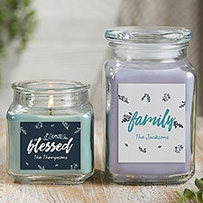Cozy Home Personalized Rustic Candle Gift - 21923
