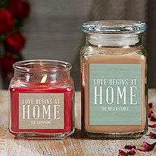 Love Begins At Home Personalized Candle Gift - 21925
