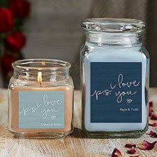 P.S. I Love You Personalized Romantic Candle Gift - 21927